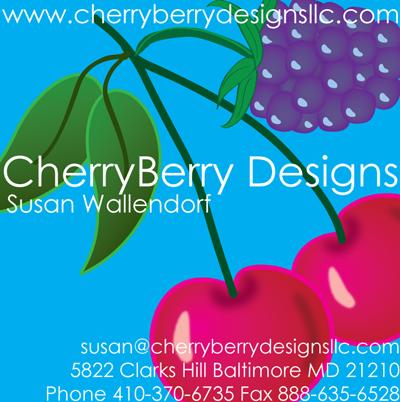 CherryBerry Designs business card